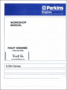 Perkins 6.354 diesel engine Workshop Manual
