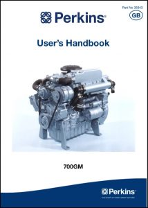 Perkins 700GM marine diesel engine User's Handbook