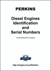 Perkins diesel engine Identification and Serial Numbers