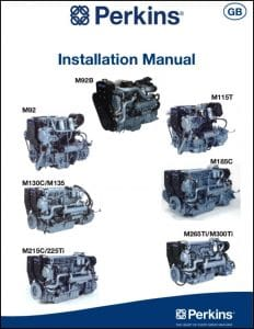 Perkins M92B marine diesel engine Installation Manual