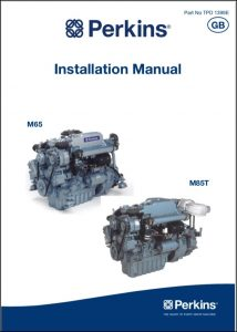 Perkins M65 diesel engine Installation Manual