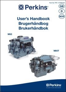 Perkins M65 marine diesel engine Users Handbook