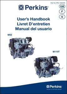 Perkins M92 marine diesel engine User's Handbook