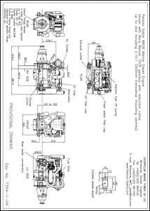 Perkins M92B marine diesel engine with Borg Warner 72CR Transmission Drawing
