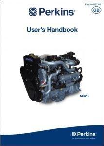 Perkins M92B marine diesel engine Users Handbook