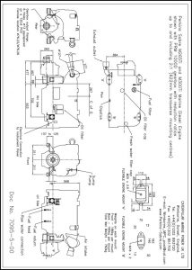 Perkins Sabre M265Ti diesel engine with PRM 1000D transmission Drawing