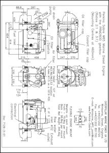 Perkins Sabre M65 diesel with PRM260D transmission Drawing