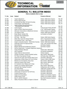 Perkins Technical Bulletins Guide