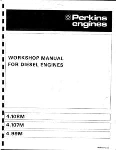 Perkins diesel engine Workshop 4108 cover