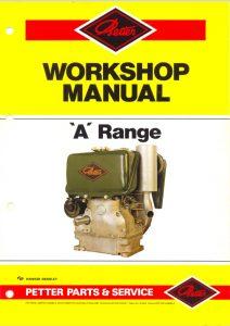 Petter A Range diesel engine Workshop Manual