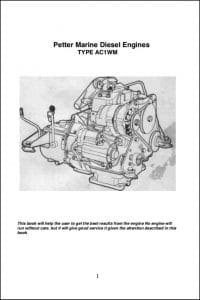 Petter AC1WM Diesel Engine Operation Manual