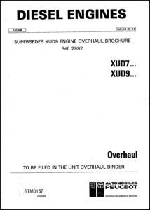 Peugeot XUD7 diesel engine Overhaul manual