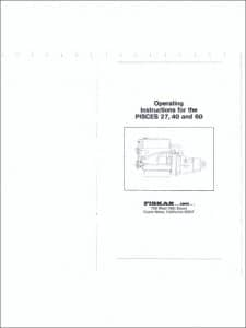 Pisces 27 etc. marine diesel engine Operating Instructions