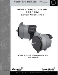 Prestolite 8SC Series Alternator Technical Service Manual