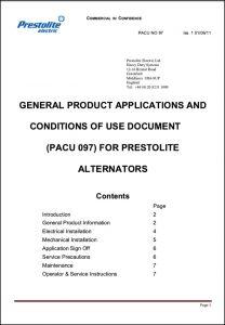 Prestolite Alternator Use Document