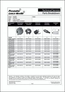 Prestolite M105R Starter Parts List