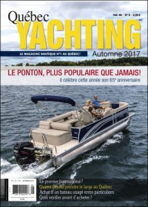 Cover of Quebec Yachting magazine fall 2017