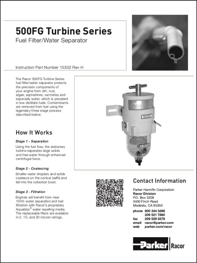 Racor 500fg Diesel Fuel Filter Instructions Marine Basics Engine