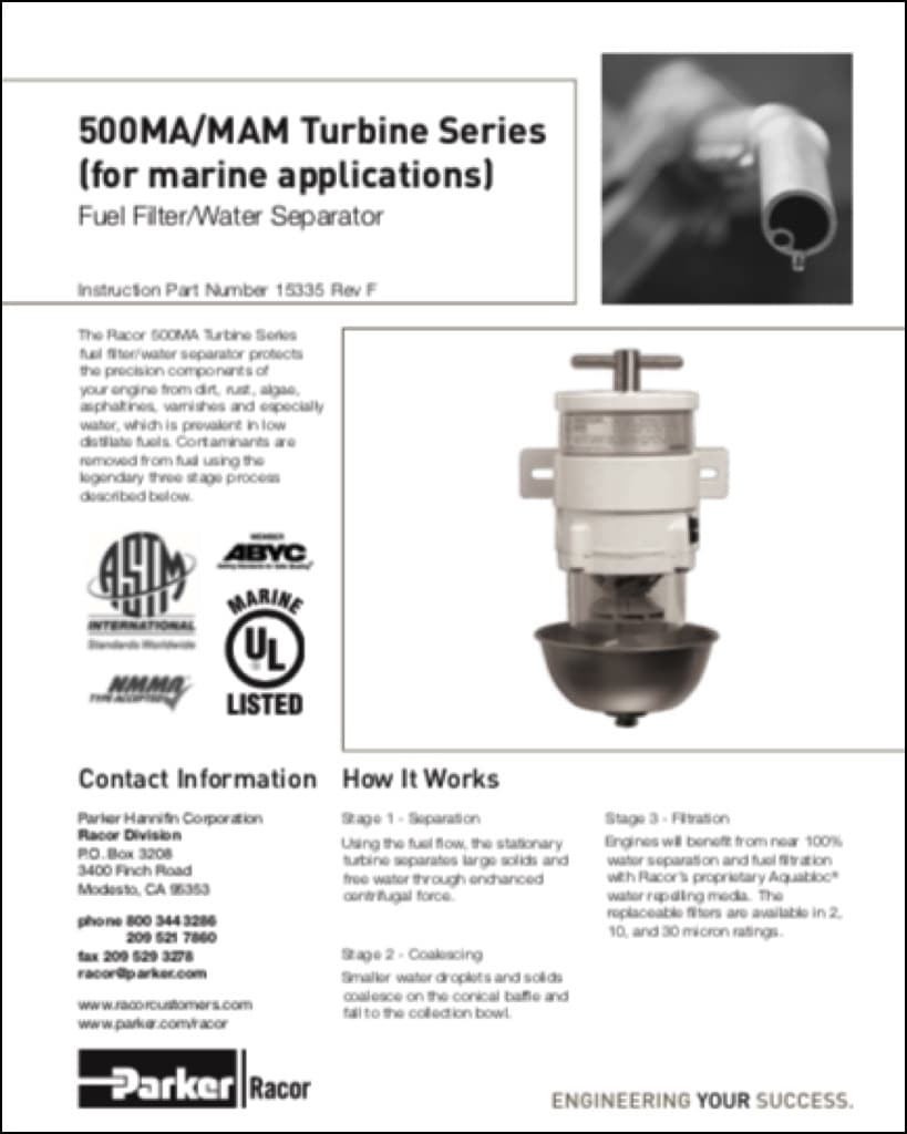 Racor 500ma Diesel Fuel Filter Instructions Marine Basics