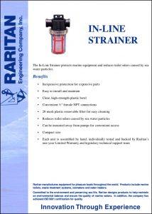 Raritan In-Line Raw Water Strainer Information Sheet