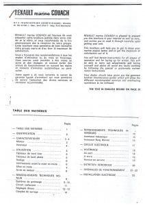 Renault R22D diesel engine Owner's Handbook