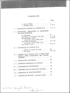 Renault RC30D marine diesel engine Workshop Manual French