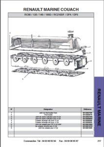 Renault RC80 diesel engine parts cover