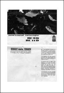 Renault RC9 diesel engine Owner's Manual