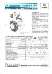Ruggerini RD diesel engine Operator