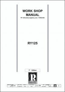 Ruggerini RY 125 diesel engine Series Workshop Manual