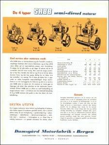 SABB 4 Types diesel engine Brochure Norwegian