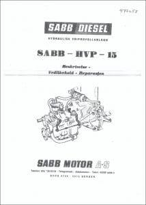 Sabb HVP 15 girkasse håndbok Norwegian