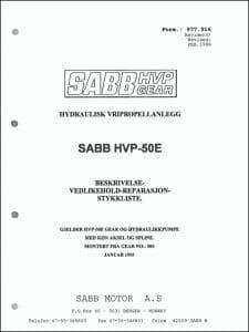 Sabb HVP-50E girkasse Beskrivelse Vedlikehold Reparasjon