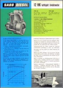 Sabb 12HK marine dieselmotor Brochure på dansk