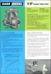 Sabb 14 Air-Cooled lifeboat Diesel engine Brochure