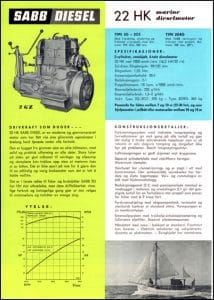 Sabb 22HK marine diesel engine Brochure in Danish