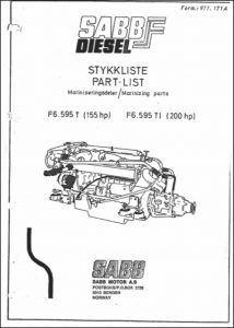 Sabb F6.595T marine diesel engine Part List (marinizing)