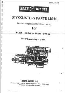 Sabb Ford F4.254 Diesel Engine Parts List