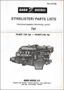 Sabb Ford F6.363T Diesel Engine Part List