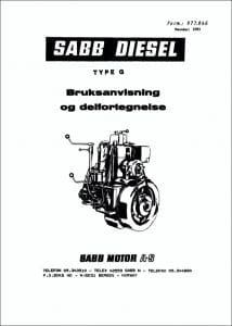 Sabb G diesel engine Workshop Manual Swedish