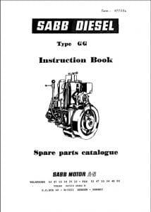 Sabb Diesel Engine GG Instruction Book & Spare Parts
