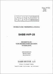 Sabb HVP-25 girkasse Beskrivelse Vedlikehold Reparasjon