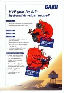 Sabb HVP25 girkasse brosjyre Norwegian