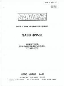 Sabb HVP30 Sabb HVP-30 girkasse Beskrivelse Vedlikehold Reparasjon