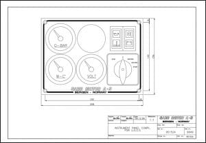 Sabb diesel engine Instrument Panel 951524 Drawing