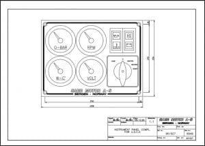 Sabb diesel engine Instrument Panel 951527 Drawing