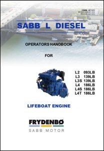 Sabb L 2.093 marine diesel engine Operator's Handbook 2014