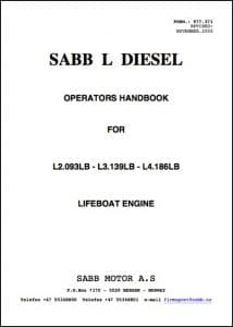 Sabb L Diesel Operators Handbook