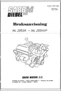 Sabb M4.295GR diesel engine User Manual 1993