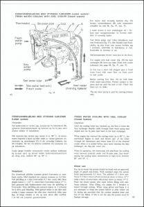 Sabb Mitsubishi diesel engine Keel Cooling Schematic